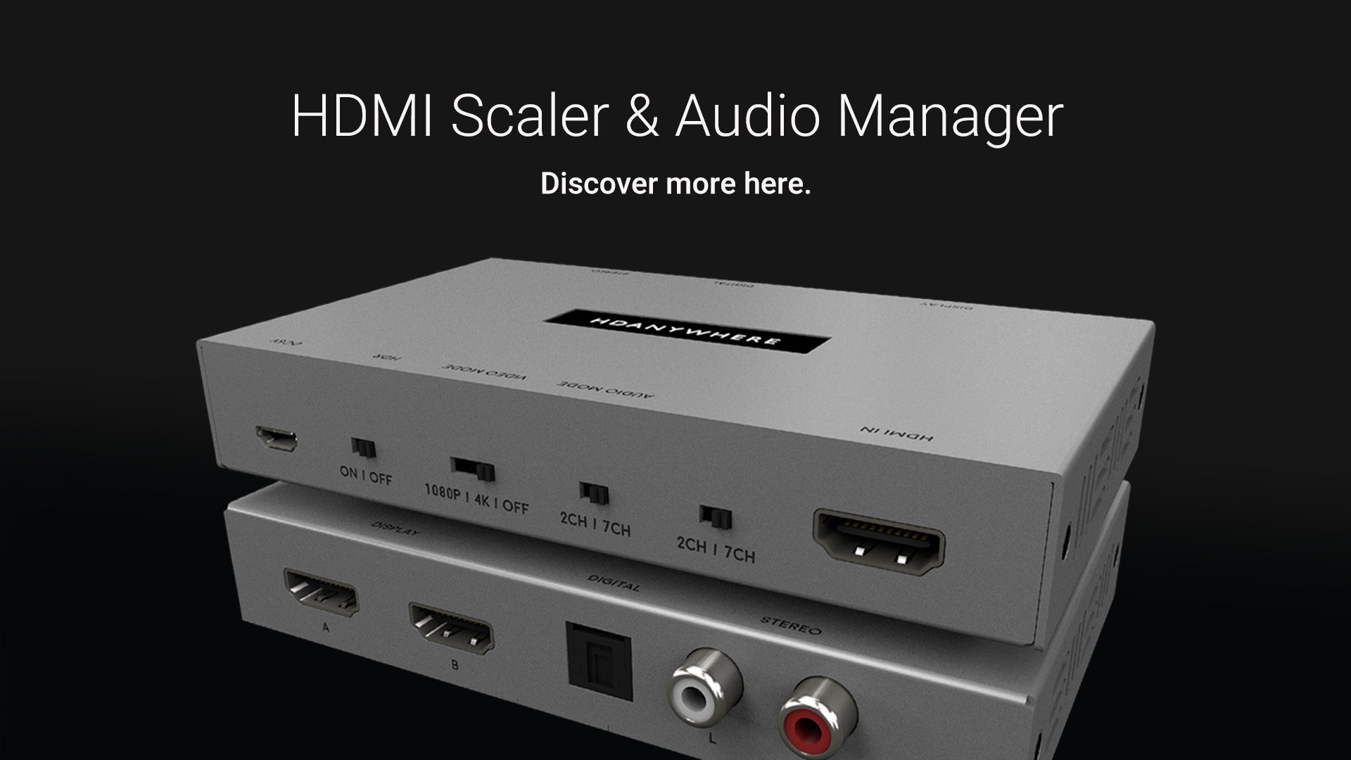 HDMI Scaler & Audio Manager