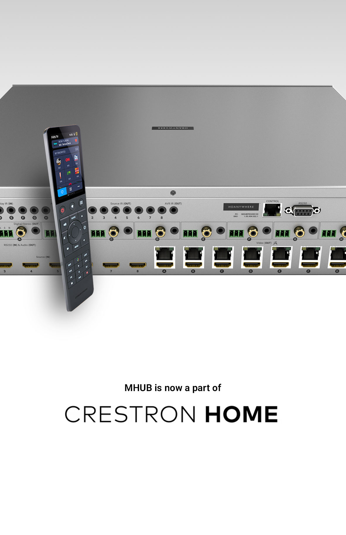 MHUB now works with Crestron Home