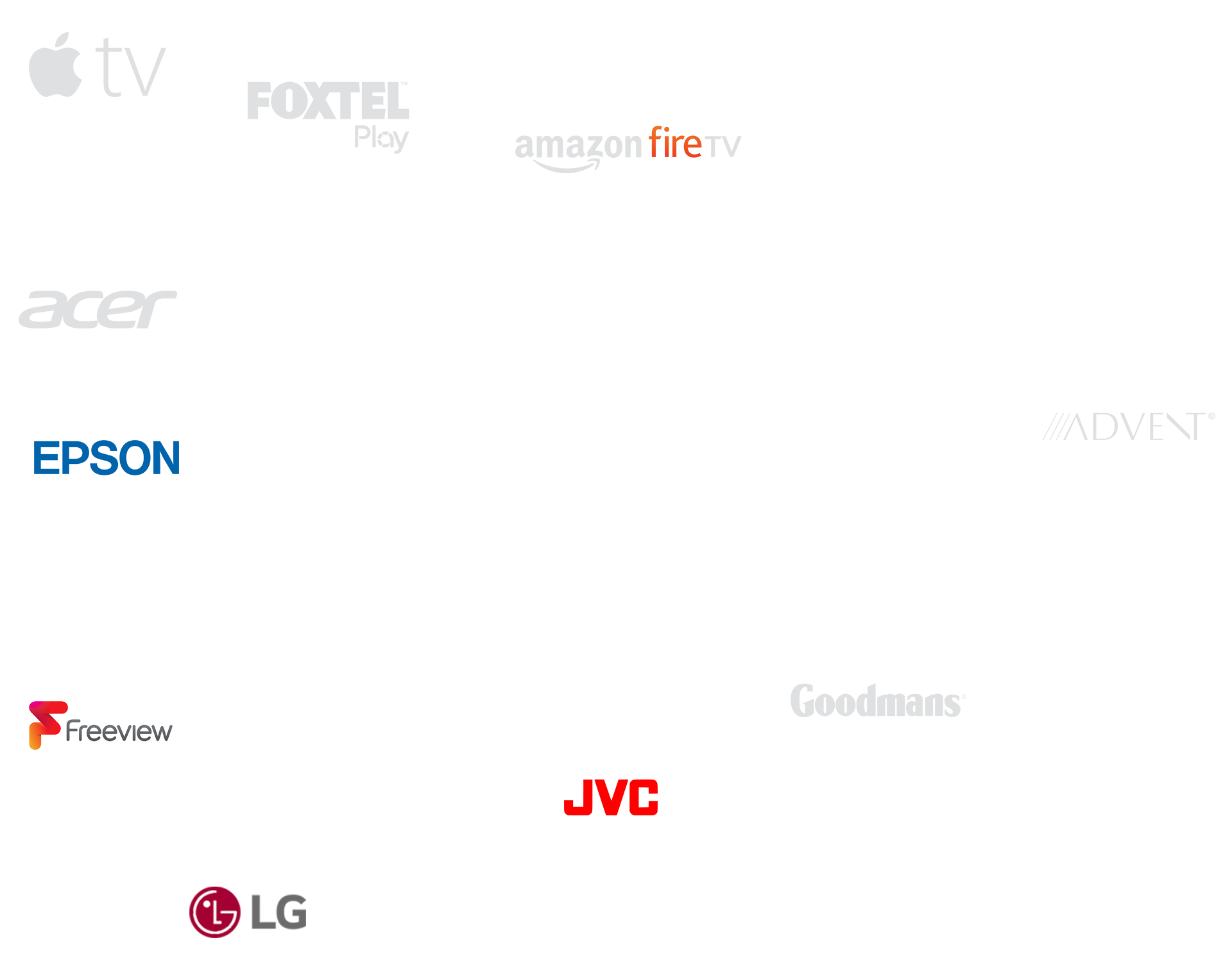 Logos of popular HDMI devices