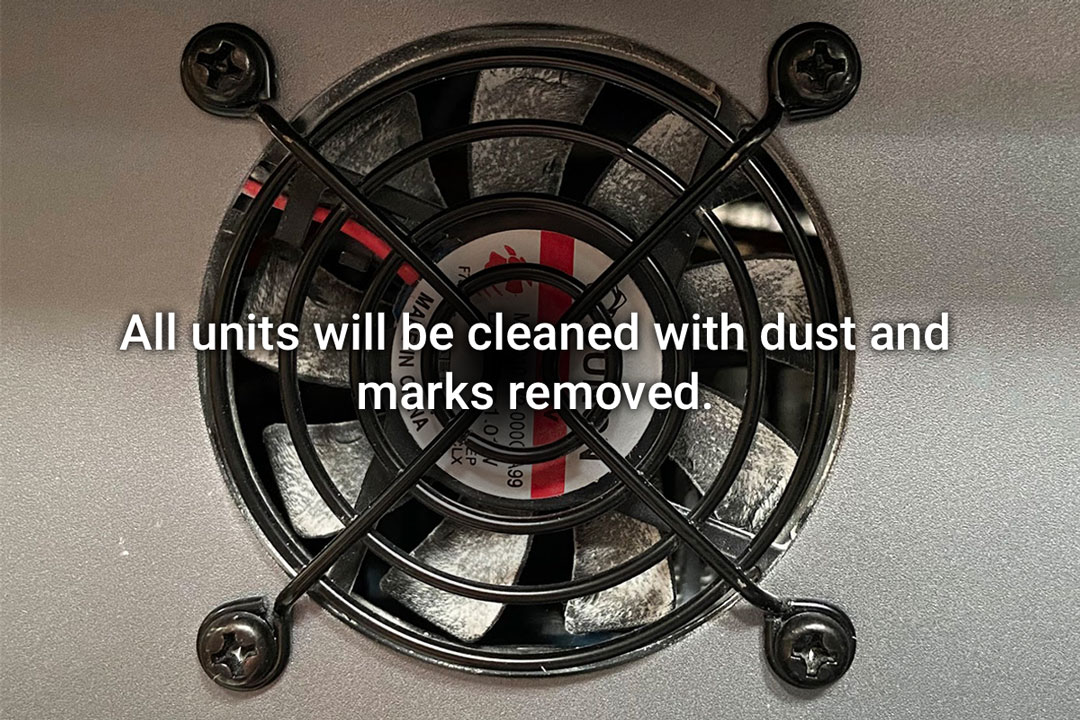 All units will be cleaned with dust and marks removed