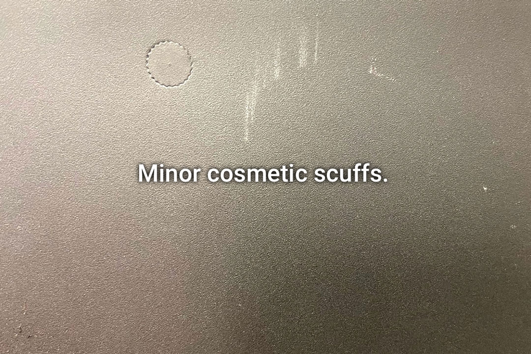Minor cosmetic scuffs