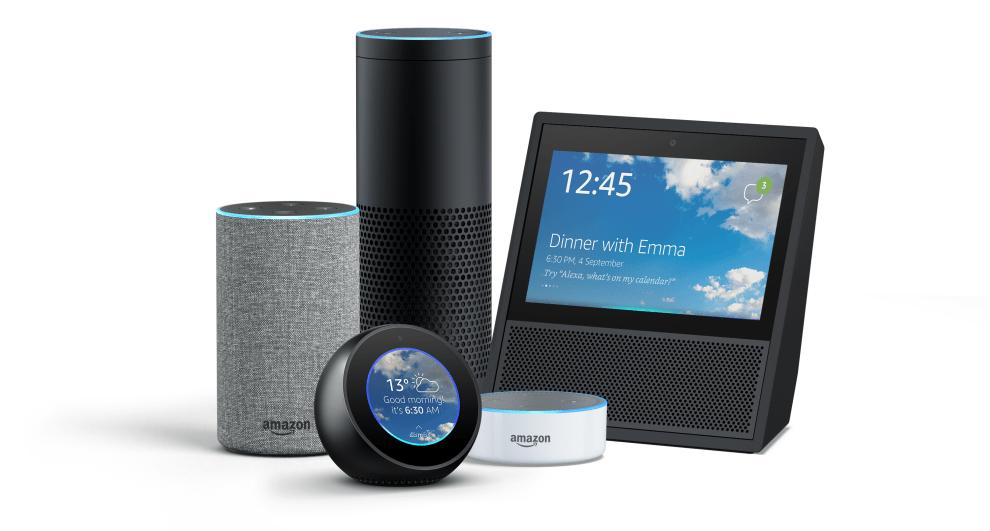 Amazon Echo family together